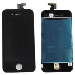 Apple iPhone 4S - Black LCD Touch Screen + layer touch glass touch panel