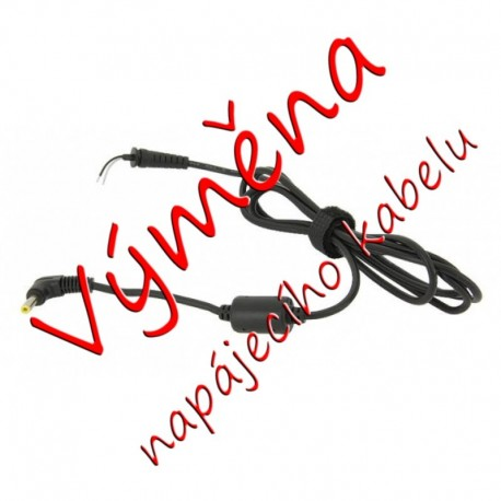 Oprava (výměna) kabelu k adaptéru HP (4.0 x 1.7 mm)