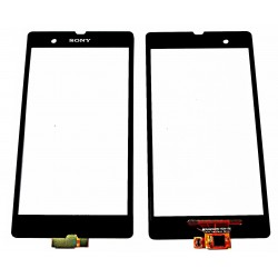 Sony Xperia Z L36i L36H C6602 C6603 C6606 - Black touch layer touch glass touch panel - OEM