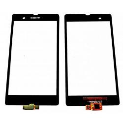 Sony Xperia Z L36i L36H C6602 C6603 C6606 - Černá dotyková vrstva, dotykové sklo, dotyková deska - OEM