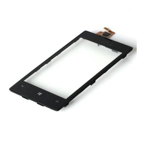Nokia Lumia 520 - Černá dotyková vrstva s rámečkem, dotykové sklo, dotyková deska + flex