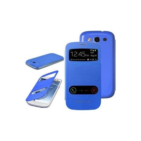 Flip S-View Samsung Galaxy S3 Mini i8190 - Temně modrá