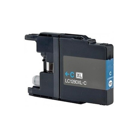 Brother LC-1280XL Cyan - Modrá kompatibilní cartridge
