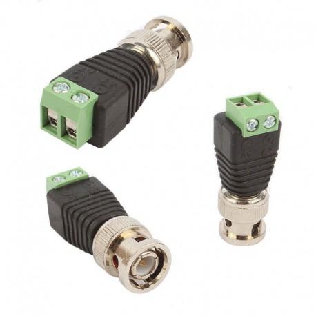 Redukce / konektor BNC male - dvoulinka - CCTV Video AV