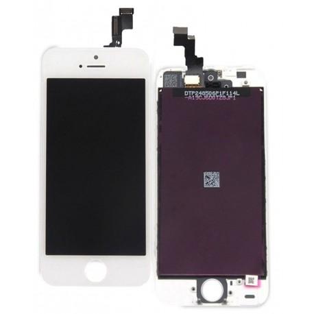 Apple iPhone 5S - Bílý LCD displej + dotyková vrstva, dotykové sklo, dotyková deska