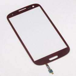 Samsung Galaxy S3 i9300 - Červená dotyková vrstva, dotykové sklo, dotyková deska + senzorová tlačítka - OEM