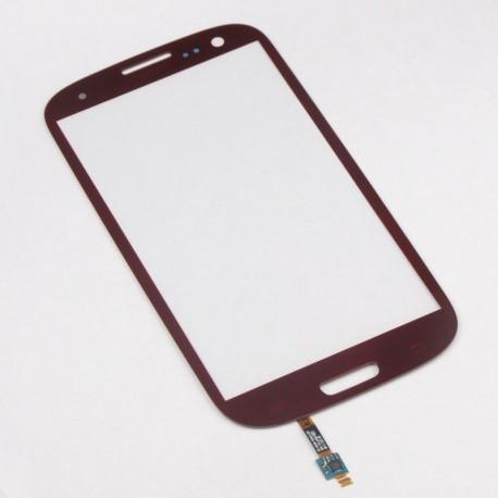 Samsung Galaxy S3 i9300 - Červená dotyková vrstva, dotykové sklo, dotyková deska + senzorová tlačítka