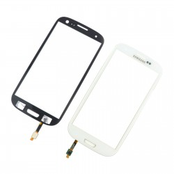 Samsung Galaxy i9300 S3 - White touch layer touch glass touch panel + sensor buttons