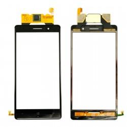Nokia Lumia 830 - Černá dotyková vrstva, dotykové sklo, dotyková deska + digitizér s flex kabelem - OEM