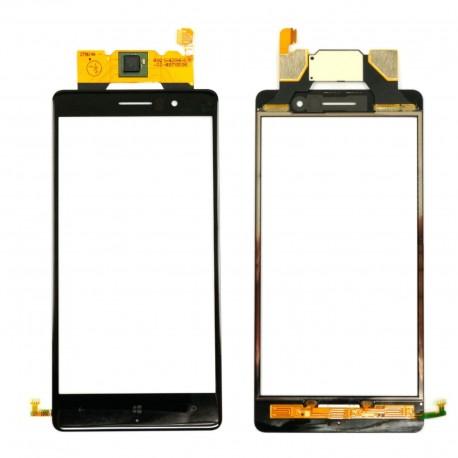 Nokia Lumia 830 - Černá dotyková vrstva, dotykové sklo, dotyková deska + digitizér s flex kabelem