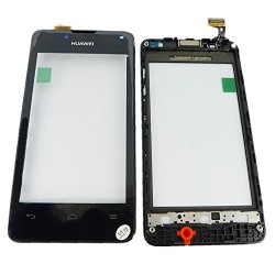 Dotykové sklo Huawei Y300 s rámečkem - černé -OEM