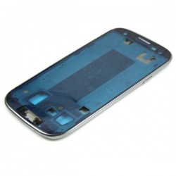 Samsung Galaxy S3 i9300 - přední kryt, rámeček pod LCD, stříbrný střední díl, housing