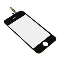Apple iPhone 3GS - Černá dotyková vrstva, dotykové sklo, dotyková deska + flex - OEM