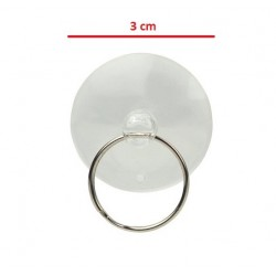 Suction cup on display, touch the glass - small 3 cm