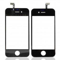 Apple iPhone 4S - Černá dotyková vrstva, dotykové sklo, dotyková deska + flex