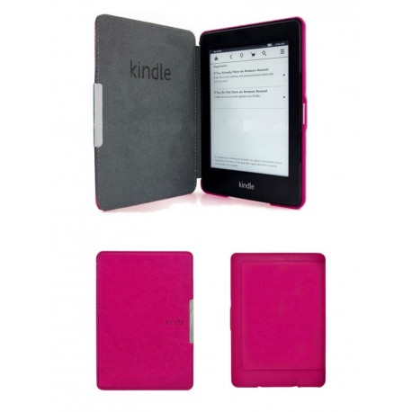 Kindle Paperwhite 5 - pink pouch reader of books - Magnetic - PU leather - an ultra-thin hard cover