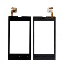 Nokia Lumia 520 - Černá dotyková vrstva, dotykové sklo, dotyková deska + flex - OEM