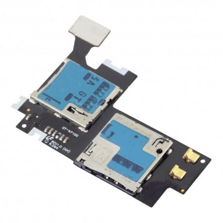Samsung Galaxy Note 2 N7100 - Flex kabel module micro SIM + SD