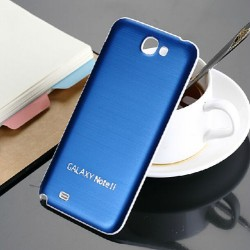 Samsung Galaxy Note 2 N7100 - Zadní kryt baterie - Hliník - Tmavě modrá / bílá