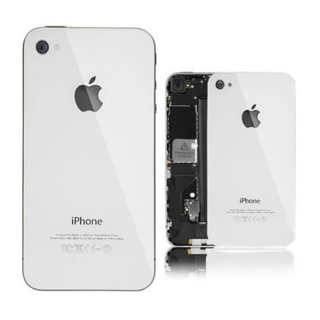 Apple iPhone 4 4S - White - rear battery cover