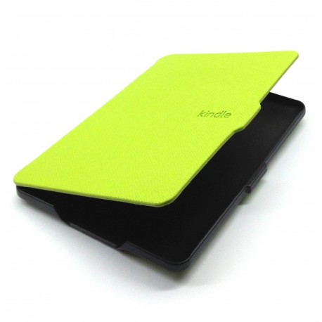 Kindle Paperwhite - green case for the reader of books - Magnetic - PU leather - an ultra-thin hard cover