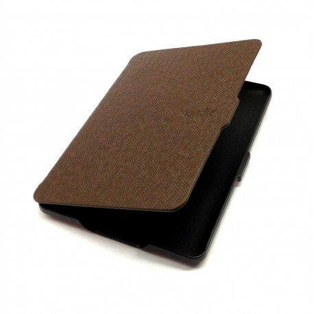 Kindle Paperwhite - brown case for the reader of books - Magnetic - PU leather - an ultra-thin hard cover