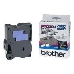 BROTHER TX-355 originální páska do tiskárny štítků, bílý tisk/černý podklad, 8m, 24mm
