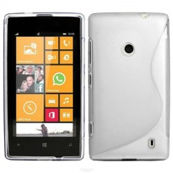 Nokia Lumia 520 - Silikonový kryt telefonu S-Line, Barva: Bílá