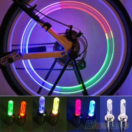 LED light on valve wheel car - changing color (2 pieces)