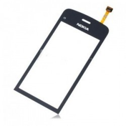Nokia C5-03 C5-04 C5-05 - Černá dotyková vrstva, dotykové sklo, dotyková deska + flex - OEM