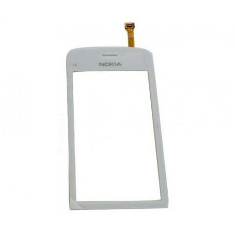 Nokia C5-03 - Bílá dotyková vrstva, dotykové sklo, dotyková deska + flex