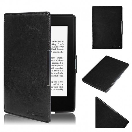 Kindle Paperwhite - black holster Swees reader of books - Magnetic - PU leather - an ultra-thin hard cover