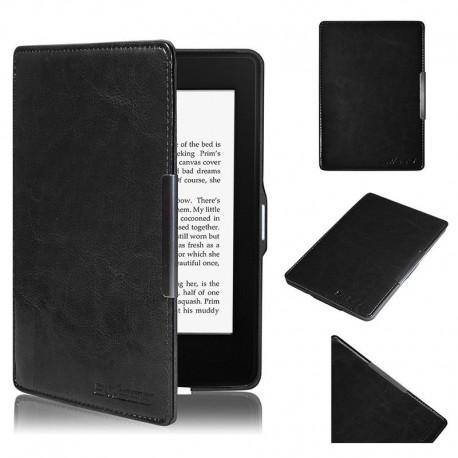 Kindle Paperwhite - černé pouzdro Swees na čtečku knih - magnetické - PU kůže - ultratenký pevný kryt