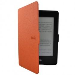 Kindle Paperwhite 1/2/3 - oranžové pouzdro na čtečku knih - magnetické - PU kůže - ultratenký pevný kryt