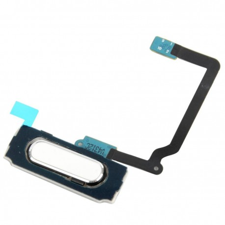 "Home button / key ""home"" for Samsung Galaxy S5 i9600 G900A G900T G900V - bilá - flex cable"