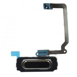 "Home button / tlačidlo ""domov"" pre Samsung Galaxy S5 i9600 SM-G900 G900A G900F G900T G900V - čierna - flex kábel"