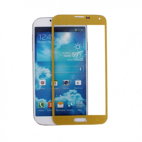 Samsung Galaxy S5 i9600 - Zlatá dotyková vrstva, dotykové sklo, dotyková deska
