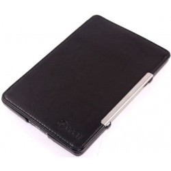 Kindle 4 / 5 - C-Tech černé pouzdro na čtečku knih - PU kůže - ultratenký pevný kryt