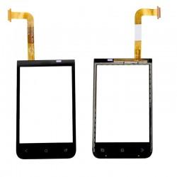 HTC Desire 200 - Černá dotyková vrstva, dotykové sklo, dotyková deska + flex - OEM