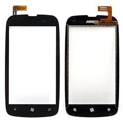 Nokia Lumia 610 - Čierna dotyková vrstva, dotykové sklo, dotyková doska + flex