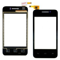 Huawei Ascend Y220 - Black touch layer touch glass touch panel + flex