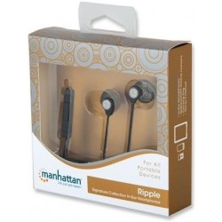 Headphones - Manhattan Signature Ripple 178341 - Black