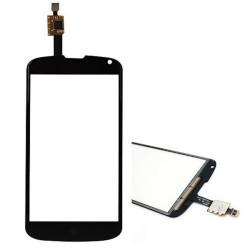 LG Nexus 4 E960 - Čierna dotyková vrstva, dotykové sklo, dotyková doska + flex