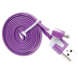Sync and charging cable Micro USB - Violet - lenght 1m