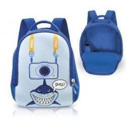 Nikon neoprénový batôžtek so žralokom - modrý