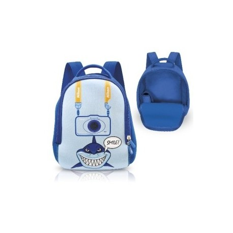 Nikon neoprene backpack with sharks - Blue