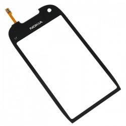 Nokia C7 C7-00 C700 - Černá dotyková vrstva, dotykové sklo, dotyková deska + flex - OEM