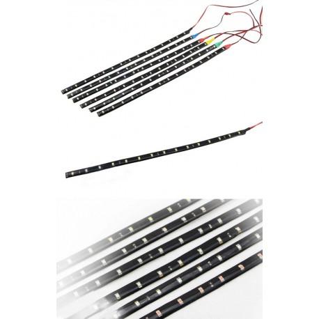 LED pásek 12V DC 30cm 15 LED - voděodolný - modrá