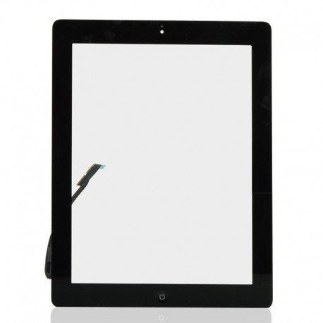 Apple iPad 3 + home button - Black touch screen, touch glass touch panel for tablets