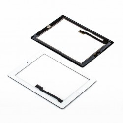 Apple iPad 3 + home button - White touch screen, touch glass touch panel for tablets